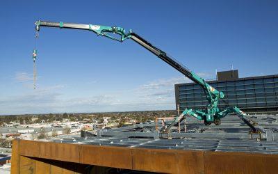 Mini Crawler Crane In Action