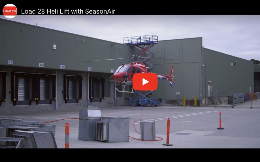 Load 28 & SeasonAir partner for Heli Lift Install